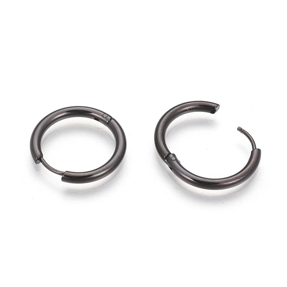 PandaHall_304_Stainless_Steel_Hoop_Earrings_Hand_Polished_Gunmetal_Inner_8mm_12x2mm_Pin_07mm_Stainless_Steel