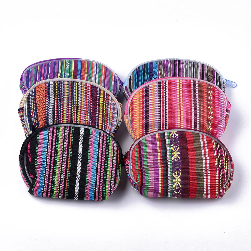 PandaHall Cloth Clutch Bags, Change Purse, Mixed Color, 79~80x113~115x25~27mm Cloth Multicolor (ABAG-S005-09 1763041) photo