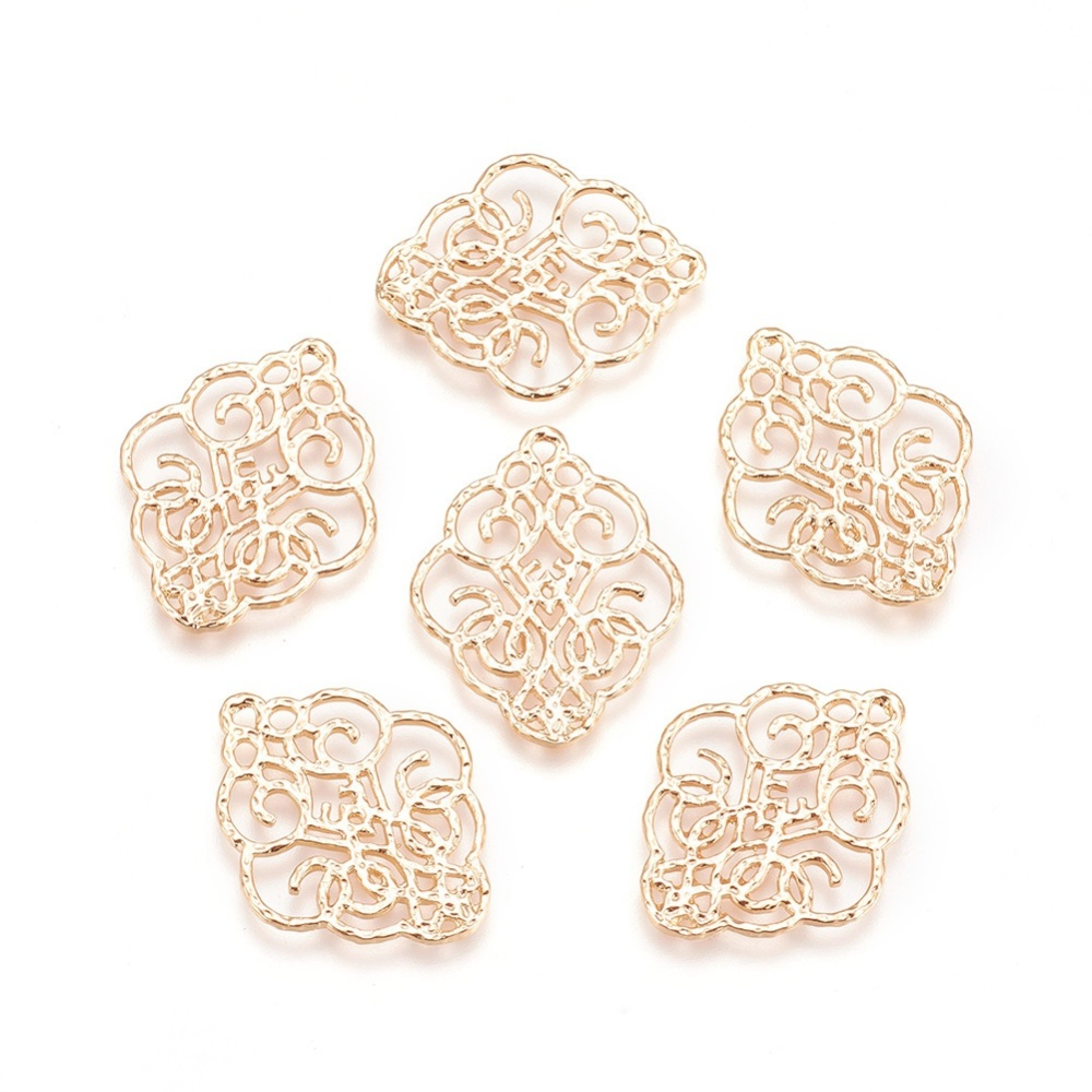 PandaHall_Brass_Filigree_Pendants_Nickel_Free_Flower_Real_Gold_Plated_28x23x1mm_Hole_14mm_Brass_Flower