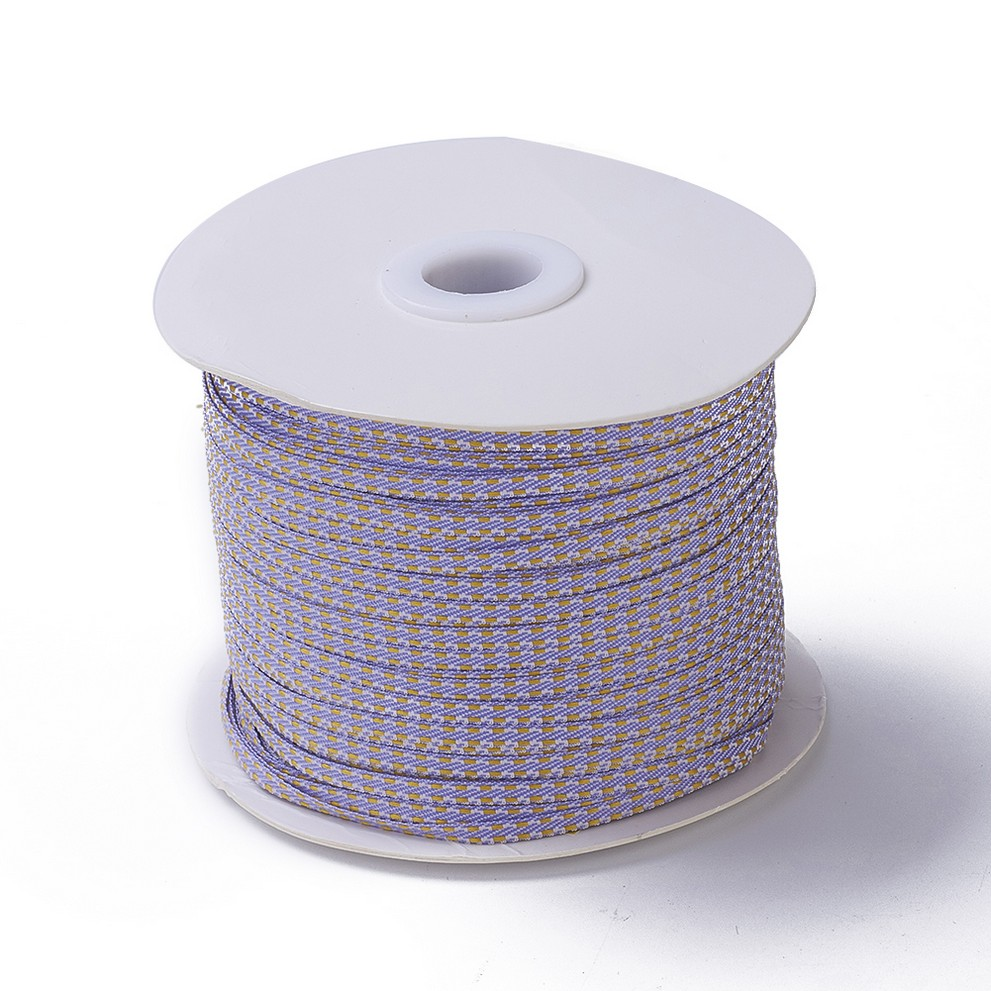 PandaHall_Doublesided_Nylon_Ribbon_For_Jewelry_Making_Lilac_183mm_about_200yardsroll18288mroll_Nylon_Purple