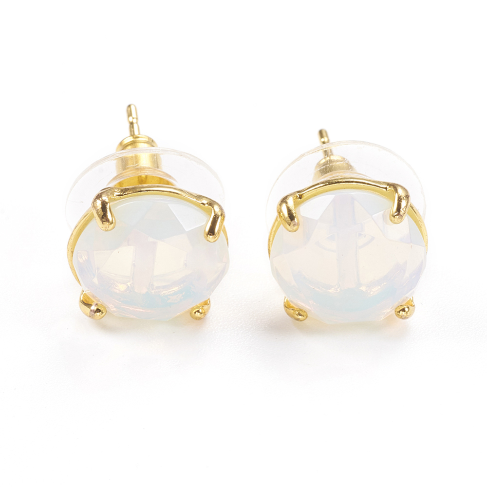 PandaHall_Opalite_Stud_Earrings_with_Golden_Tone_Brass_Findings_Faceted_Flat_Round_11mm_Pin_08mm_Opalite