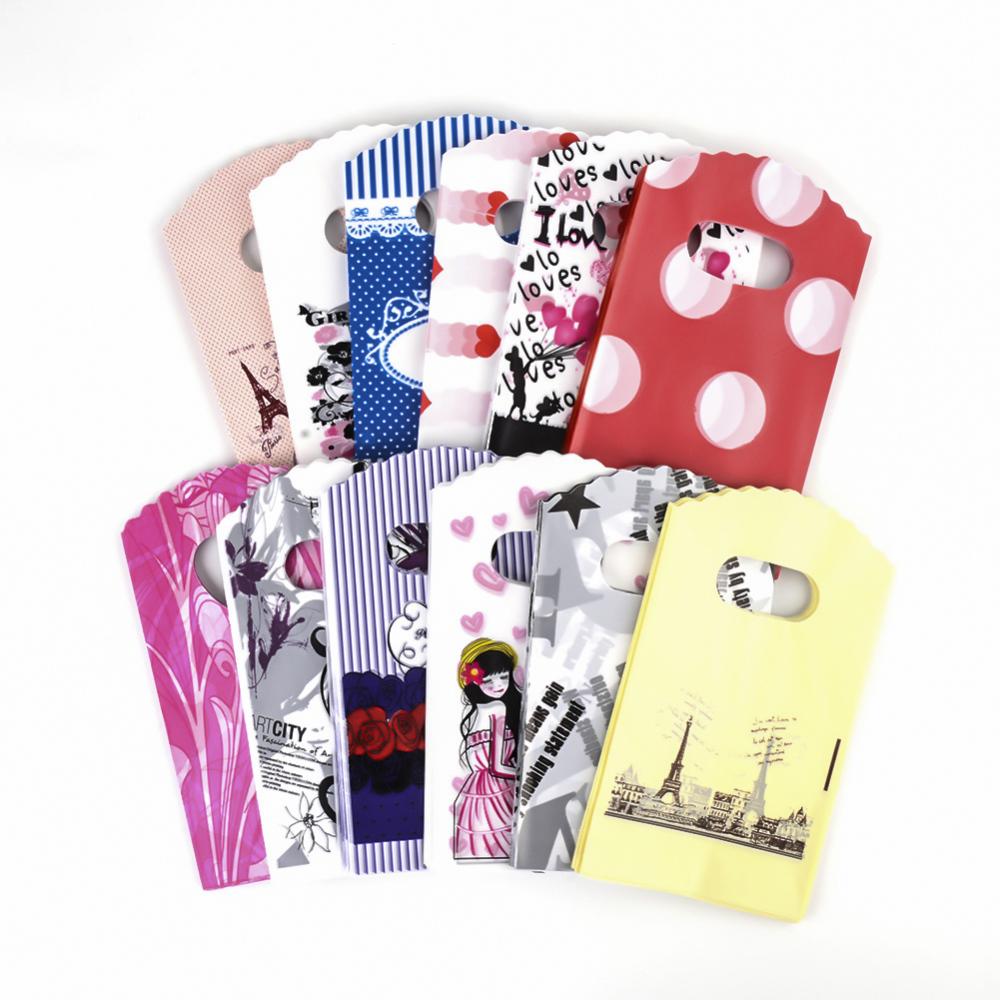 PandaHall_Plastic_Bags_Mixed_Color_about_9cm_wide_15cm_long_Plastic_Multicolor