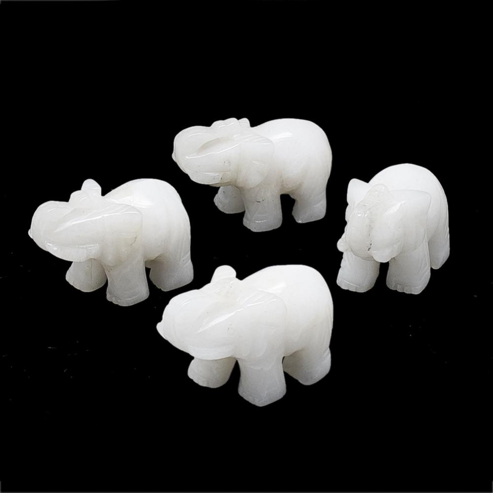 PandaHall_Natural_White_Jade_Display_Decorations_Elephant_43~53x15~28x30~38mm_White_Jade_Elephant