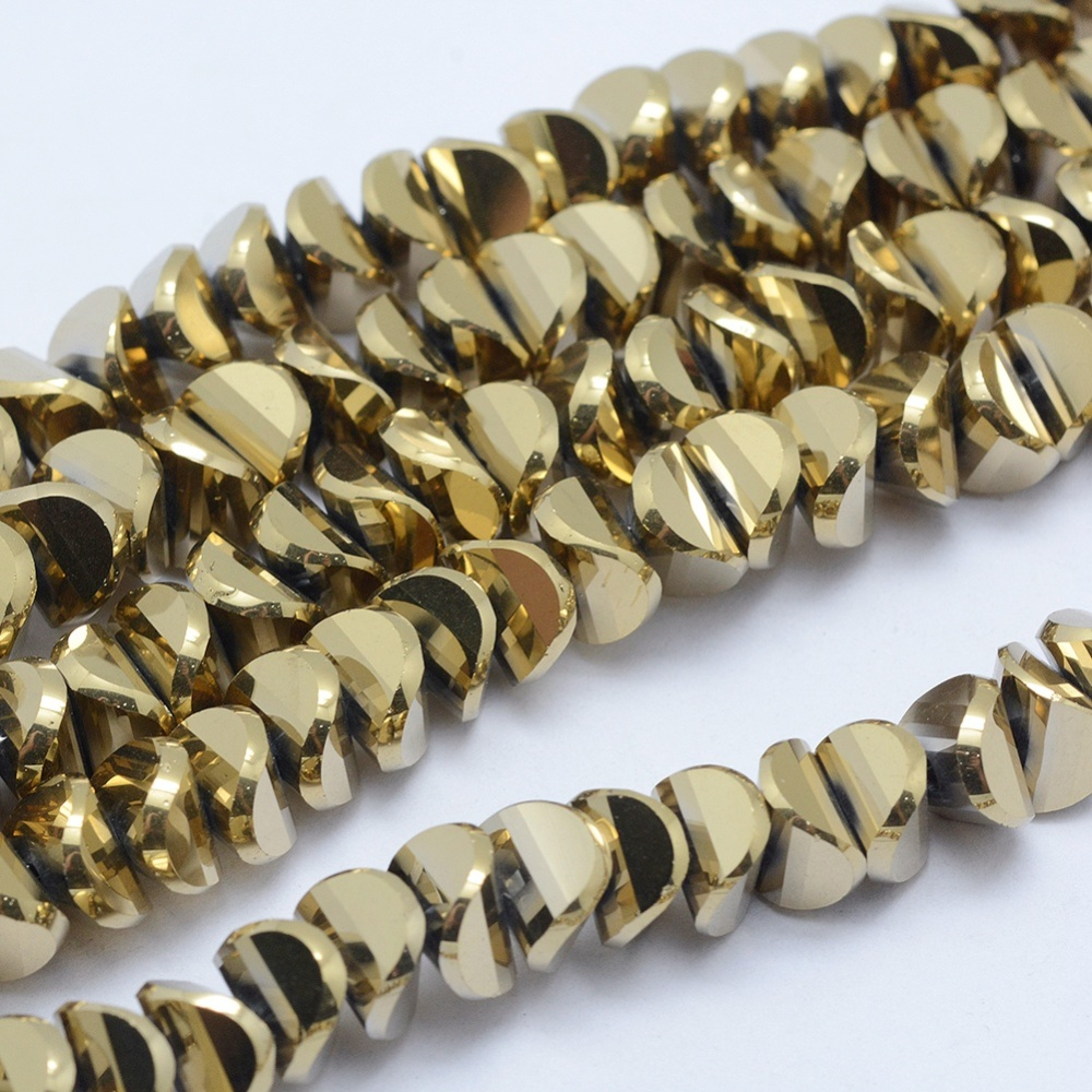 PandaHall_Electroplate_Glass_Beads_Strands_Full_Plated_Twist_Oval_Golden_Plated_4x8x75mm_Hole_12mm_about_98~99pcsstrand_169