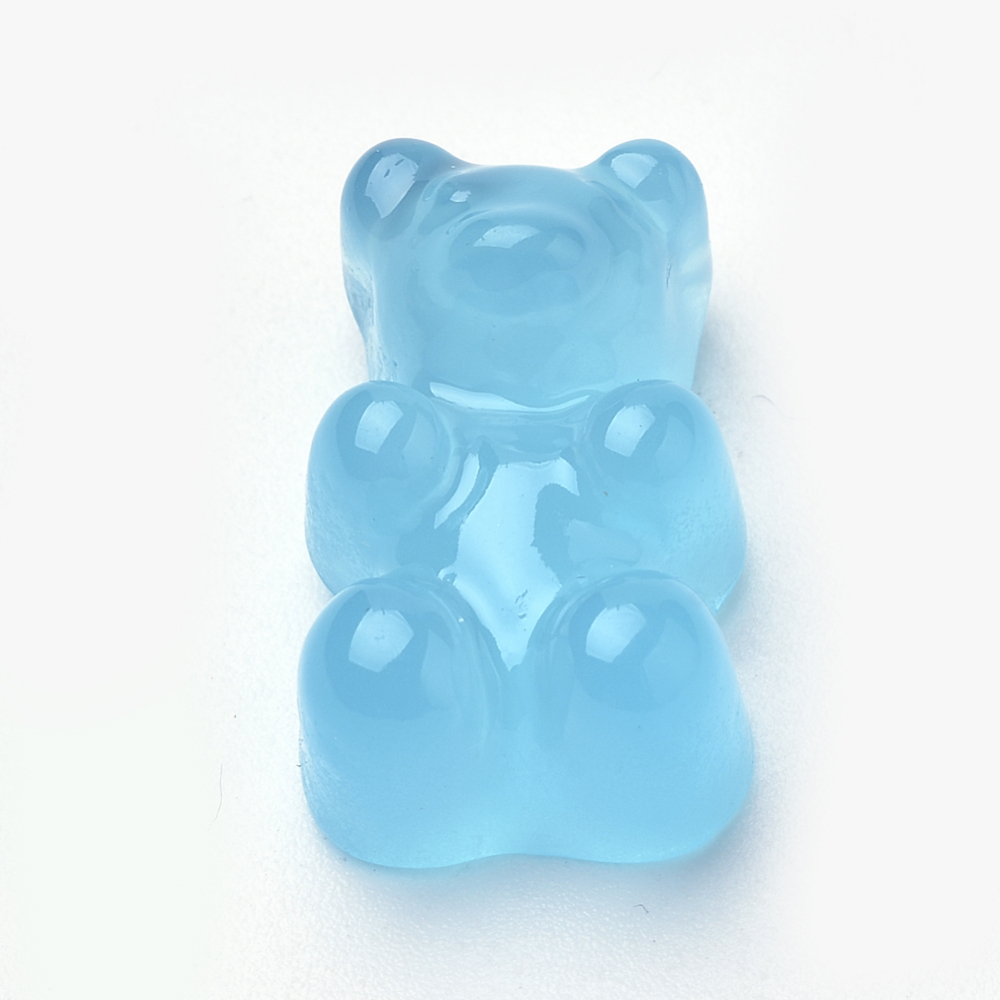 PandaHall_Resin_Cabochons_Bear_SkyBlue_175x105x75mm_Resin_Bear_Blue