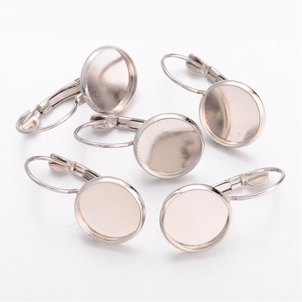 PandaHall_Brass_Leverback_Earring_Findings_Lead_Free_Cadmium_Free_and_Nickel_Free_Platinum_Color_Size_about_14mm_wide_24mm_long_Tray
