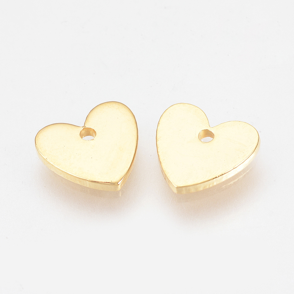 PandaHall_Brass_Charms_Real_Gold_Plated_Heart_Golden_8x8x1mm_Hole_1mm_Brass_Heart