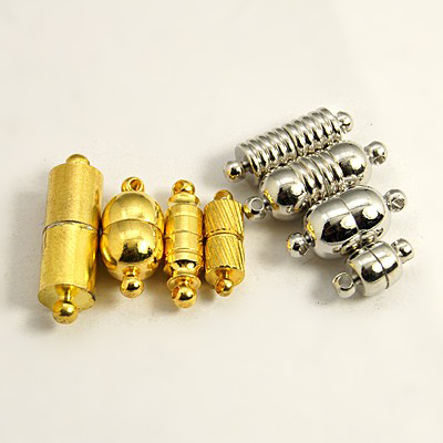 PandaHall_Brass_Magnetic_Clasps_Mixed_Style_Mixed_Color_11~28x5~12mm_Hole_1mm_Brass_Others