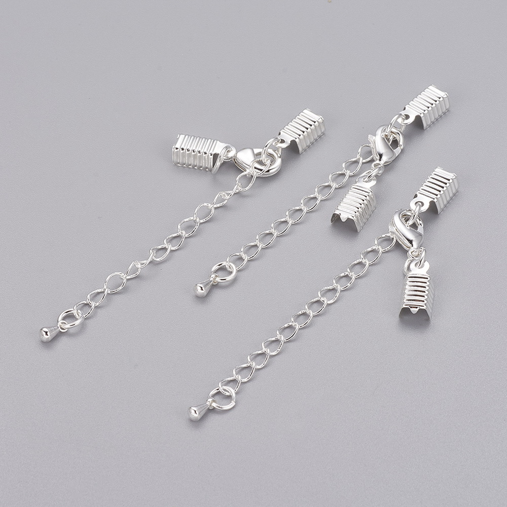 PandaHall_Brass_Clasp_&_Clip_Ends_Set_Lobster_Claw_Clasp_with_Cord_Crimp_&_Extender_Chain_Nickel_Free_Silver_Chain_50x35mm_Hole