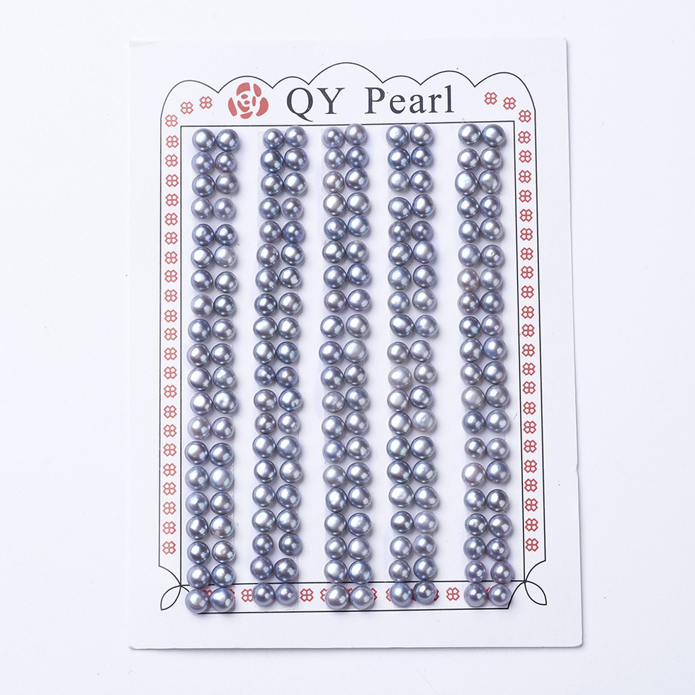 PandaHall_Natural_Pearl_Beads_Half_Drilled_Round_SlateBlue_4~45x35mm_Hole_08mm_Pearl_Round_Blue