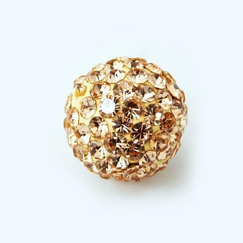 PandaHall Pave Disco Ball Beads, Polymer Clay Rhinestone Beads, Grade A, Lig..
