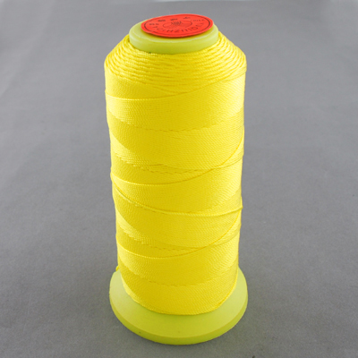 PandaHall_Nylon_Sewing_Thread_Yellow_06mm_about_500mroll_Nylon_Yellow