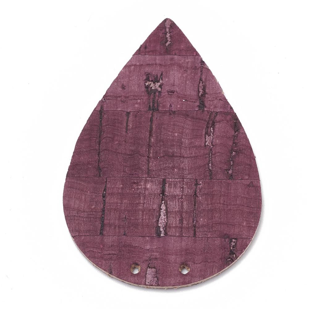 PandaHall_Imitation_Leather_Pendants_Drop_Purple_47x31x1mm_Hole_1mm_Imitation_Leather_Drop_Purple