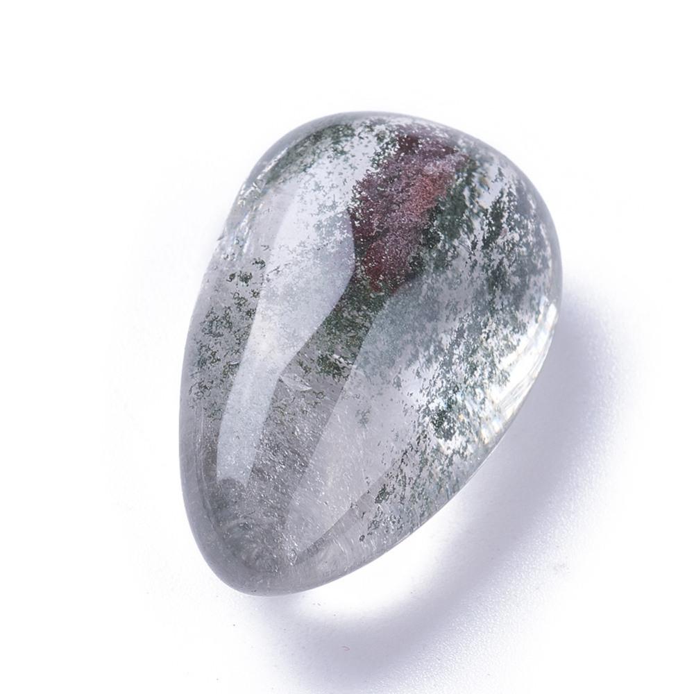 PandaHall_Natural_Lodolite_Quartz_Beads_Drop_No_HoleUndrilled_335x20x14mm_Lodolite_Quartz_Drop_Green