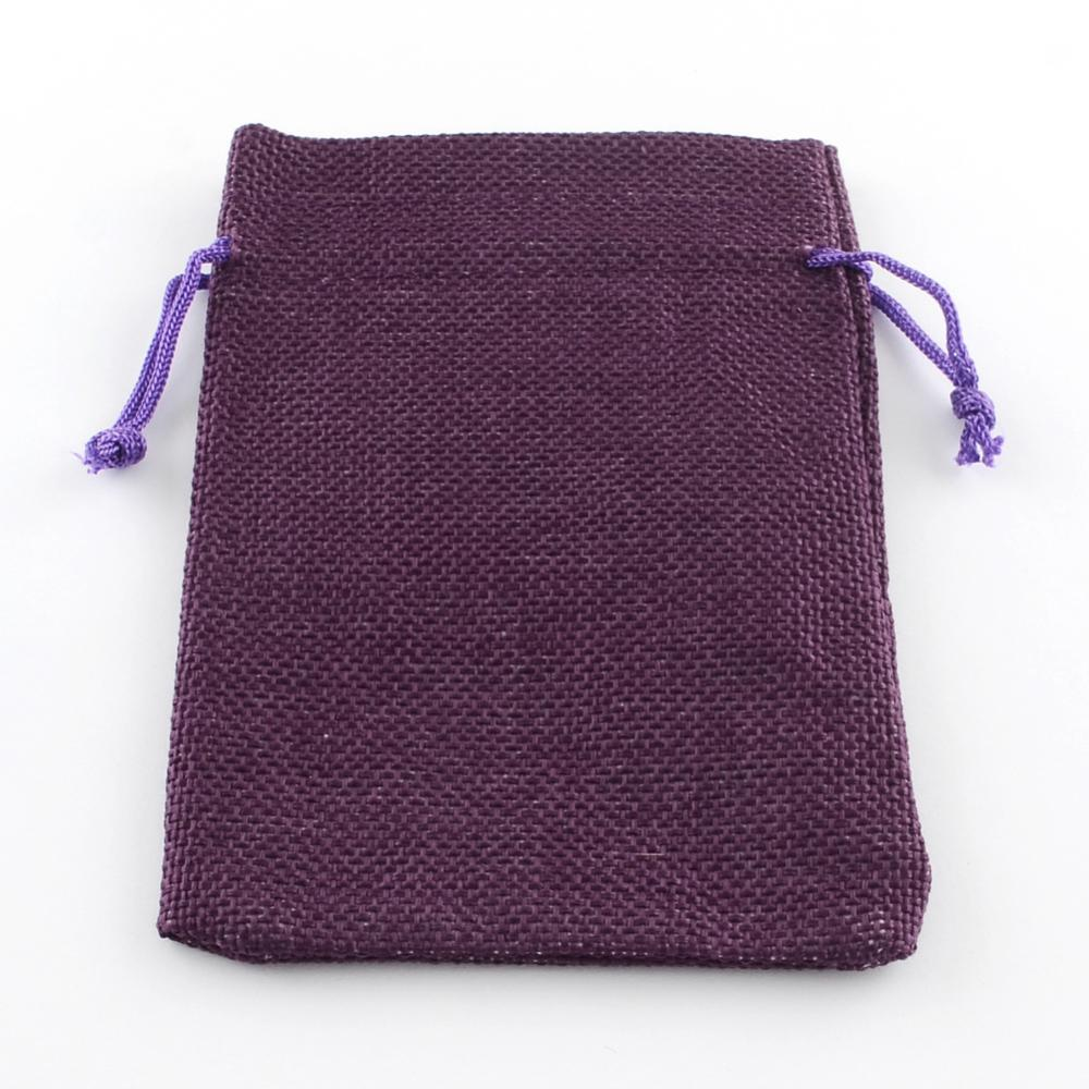 PandaHall_Burlap_Packing_Pouches_Drawstring_Bags_Purple_14x10cm_Cloth_Purple