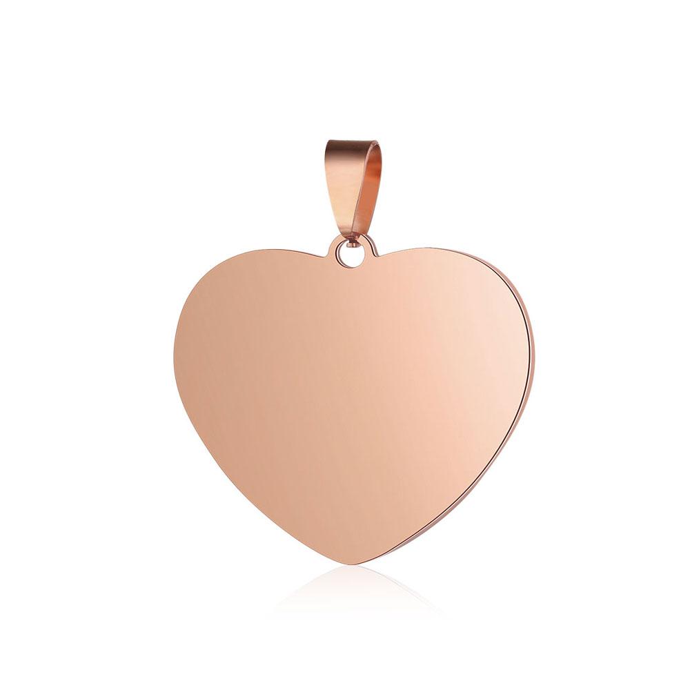PandaHall_201_Stainless_Steel_Pendants_Heart_Rose_Gold_305x25x2mm_Hole_35x7mm_Stainless_Steel_Heart