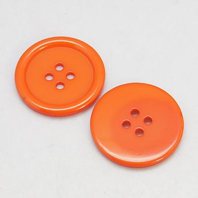 PandaHall_Resin_Buttons_Dyed_Flat_Round_DarkOrange_22x3mm_Hole_2mm_195pcsbag_Resin_Flat_Round_Orange