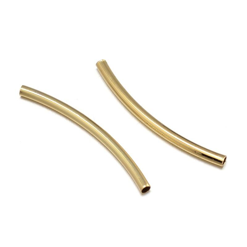 PandaHall_Environmental_Brass_Curved_Tube_Beads_Lead_Free_&_Nickel_Free_&_Cadmium_Free_Golden_30x2mm_Hole_15mm_Brass_Tube