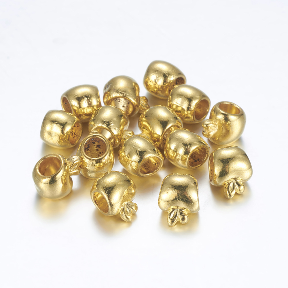 PandaHall_Large_Hole_Tibetan_Style_Metal_European_Beads_Lead_Free_&_Cadmium_Free_&_Nickel_Free_Apple_Golden_Color_Size_about_11mm_long