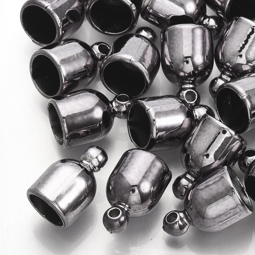 PandaHall_CCB_Plastic_Cord_Ends_Gunmetal_13x8mm_Hole_15mm_Inner_Diameter_65mm_Plastic
