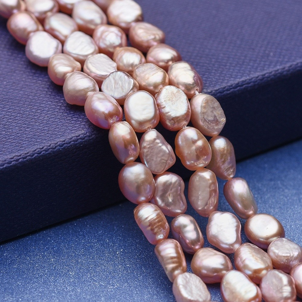 PandaHall_Natural_Pearl_Beads_Strands_Potato_DarkSalmon_6~10x5~7mm_Hole_05mm_about_46~47pcsstrand_1377~141735~36cm_Pearl