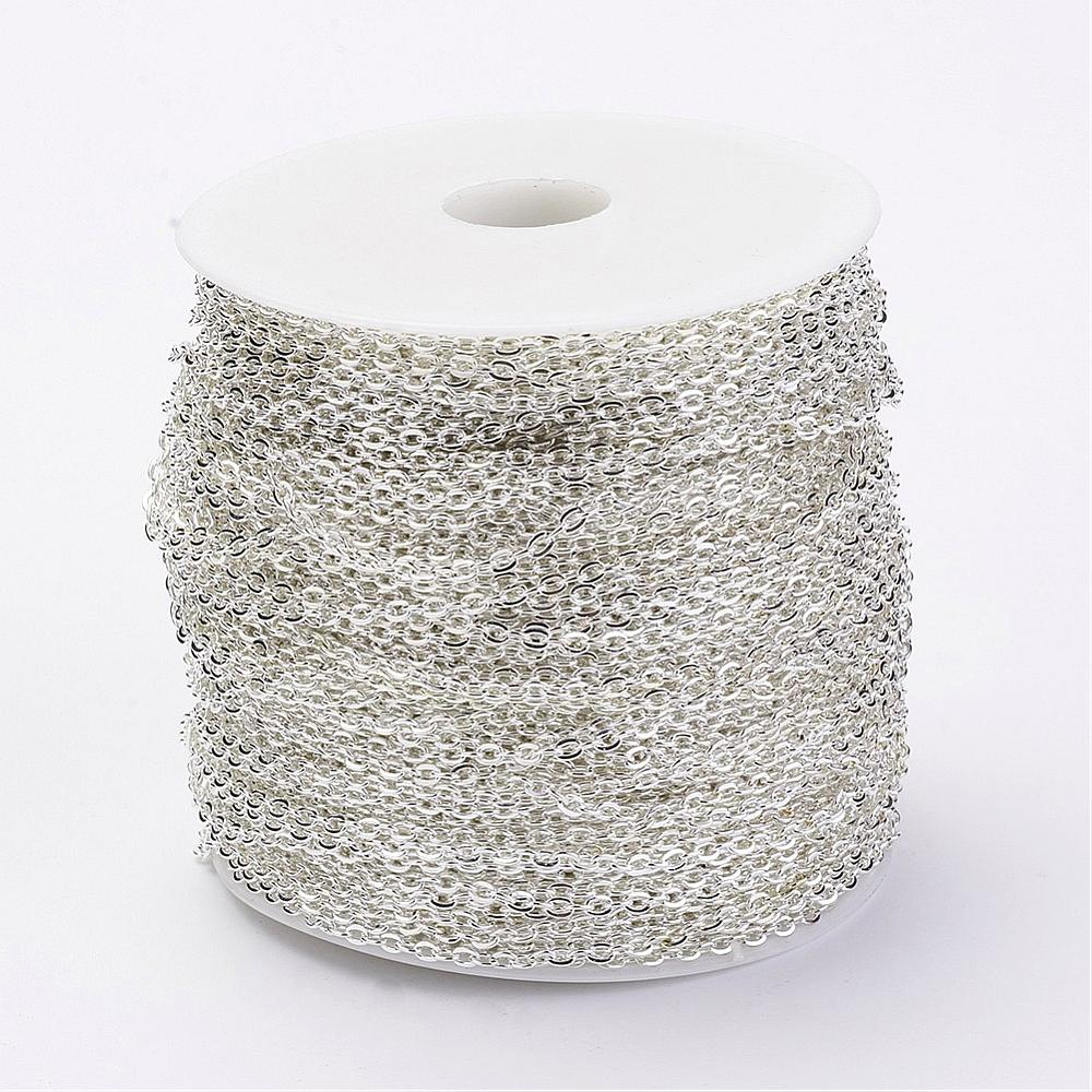PandaHall_Iron_Cable_Chains_Unwelded_with_Spool_Popular_for_Jewelry_Making_Important_Decoration_Silver_3x2x06mm_100mroll_Iron