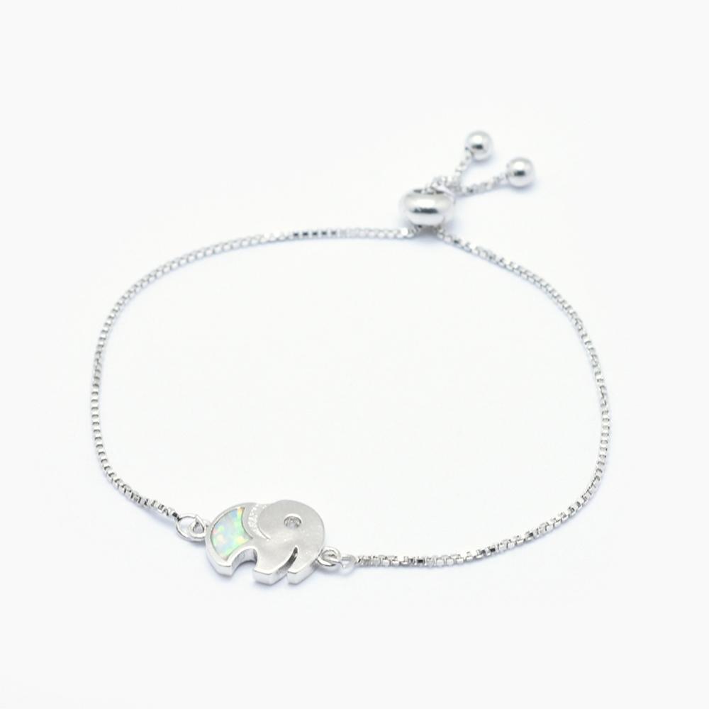 PandaHall_Adjustable_Brass_Synthetic_Opal_Bolo_Bracelets_Slider_Bracelets_with_Cubic_Zirconia_LongLasting_Plated_Elephant_Platinum