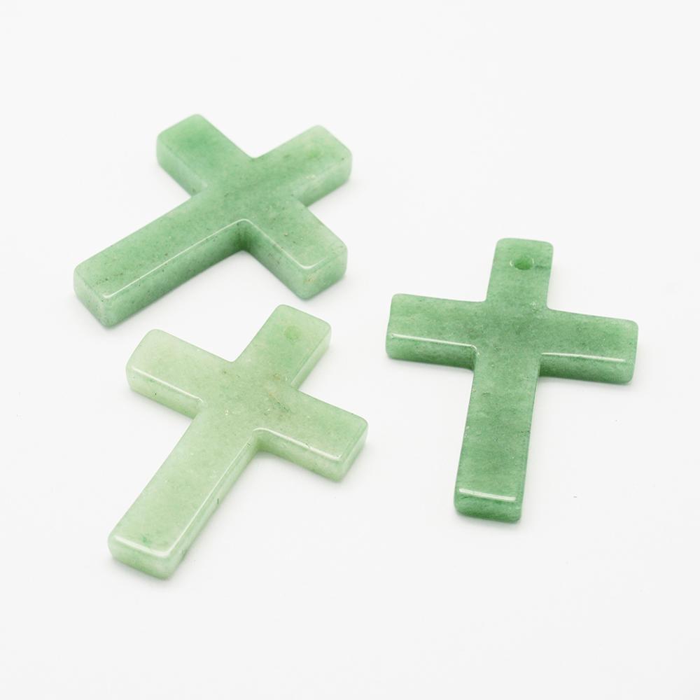 PandaHall_Natural_Green_Aventurine_Pendants_Cross_43x33x7mm_Hole_2mm_Green_Aventurine_Cross