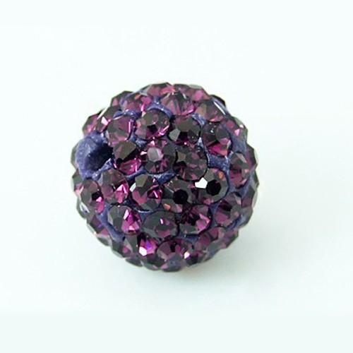 PandaHall Grade A Pave Disco Ball Round Beads, Polymer Clay Rhinestone Beads..