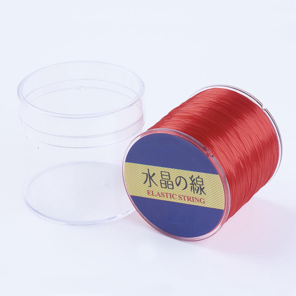 PandaHall_Japanese_Elastic_Fibre_Wire_Red_08mm_300yardsroll_Elastic_Fibre_Red