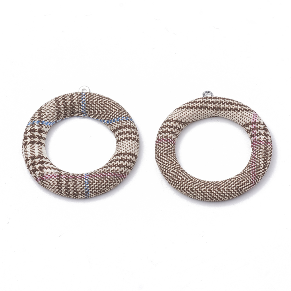 PandaHall_Cloth_Fabric_Covered_Pendants_with_Aluminum_Bottom_Ring_Platinum_Camel_40x36x4mm_Hole_1mm_Cloth_Ring_Brown