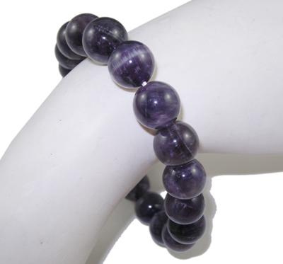 "PandaHall_Natural_Amethyst_Stretch_Bracelets,_2""(52mm);_Bead:_10mm_in_Diameter_Amethyst_Purple"