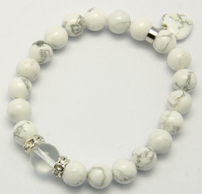 PandaHall_Natural_Gemstone_Charm_Bracelets,_Howlite,_White,_58mm_Howlite_White