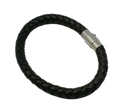 PandaHall_Leather_Bracelets,_with_Brass_Magnetic_Clasps,_Bracelet_Making,_Platinum_Color,_Black,_Size:_bracelets:_about_229mm,_64mm_inner...