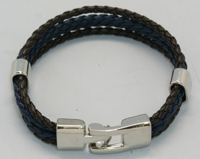 PandaHall_Multi-strand_Bracelets,_Braided_Leather_Cord_Bracelets,_with_Alloy_Findings_and_Clasp,_Colorful,_210x11mm_Imitation_Leather