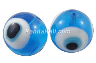 PandaHall_Handmade_Lampwork_Beads_Evil_Eye_Round_DodgerBlue_about_10mm_in_diameter_hole_1mm_Lampwork_Round_Blue