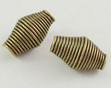 PandaHall_Iron_Spring_Beads_Coil_Beads_Nickel_Free_Iron_Antique_Bronze_Color_9mmx6mm_hole_2mm_2400pcs1000g_Iron_Vase