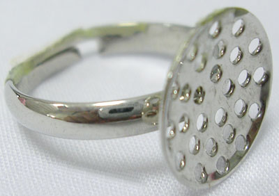 PandaHall_Brass_Sieve_Ring_Bases_Adjustable_Nickel_Free_Platinum_Color_PlatedSize_about_19mm_in_diameter_3mm_wide_Round_Tray_20mm