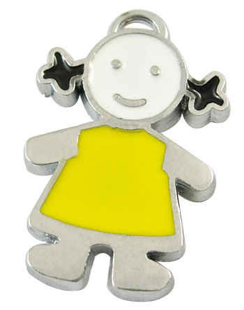 PandaHall_Alloy_Enamel_Pendants_Lead_Free_and_Cadmium_Free_Children_Platinum__Yellow_about_255mm_long_165mm_wide_2mm_thick_hole
