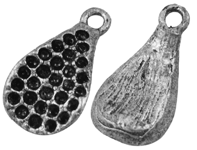 PandaHall_Drop_Alloy_Pendant_Rhinestone_Settings_Lead_Free_and_Cadmium_Free_Antique_Silver_Color_about_22mm_long_12mm_wide_3mm_thick