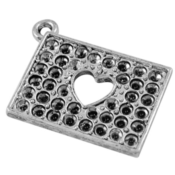 PandaHall_Rectangle_Rectangle_Alloy_Pendant_Rhinestone_Settings_Lead_Free_and_Cadmium_Free_Antique_Silver_26mm_long_19mm_wide_2mm_thick