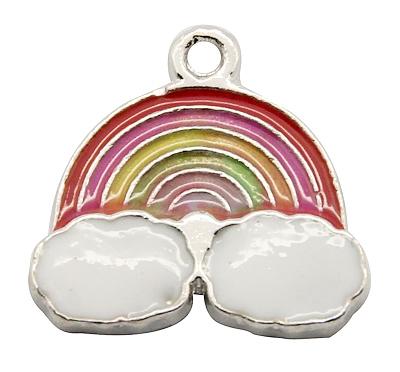 PandaHall_Alloy_Enamel_Pendants_Rainbow_Platinum_Colorful_195x20x2mm_Hole_2mm_AlloyEnamel_Others