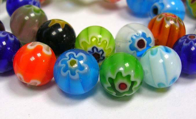 PandaHall_Handmade_Millefiori_Glass_Beads_Strands_Single_Flower_Round_Mixed_Color_6mm_in_diameter_hole_1mm_65pcsstrand_16
