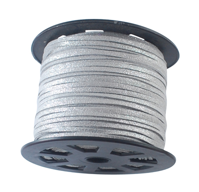 PandaHall_Faux_Suede_Cords_Faux_Suede_Lace_Silver_3mm_100yardsroll_Suede_Silver