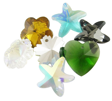 PandaHall_Glass_Pendants_Faceted_Mixed_Color_about_14mm_in_diameter_hole_1mm_72pcsbox_Glass_Others_Multicolor