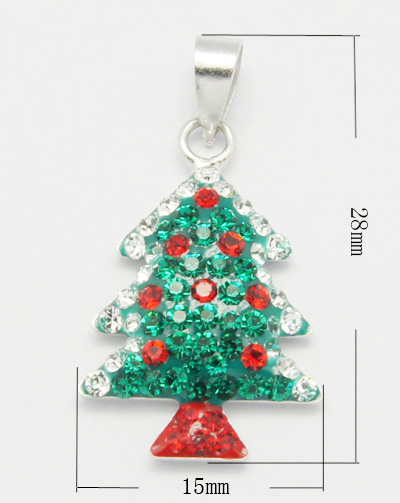 PandaHall_Sterling_Silver_Pendants_with_Enamel_and_Rhinestone_Christmas_Tree_Green_Size_about_28mm_long_15mm_wide_35mm_thick_hole