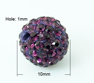 PandaHall Pave Disco Ball Beads, Polymer Clay Rhinestone Beads, Grade A, Ame..