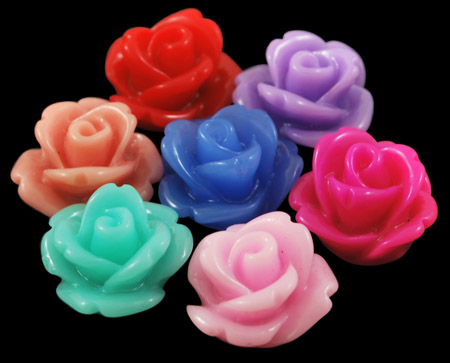 PandaHall_Resin_Cabochons_Flower_Mixed_Color_10x65mm_Resin_Flower_Multicolor