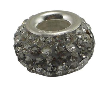 PandaHall Austrian Crystal European Beads, Large Hole Beads, Single Sterling..