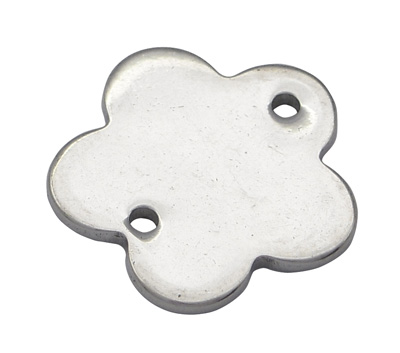 PandaHall_304_Stainless_Steel_Flower_Blank_Stamping_Tag_Links_Stainless_Steel_Color_13x13x1mm_Hole_1mm_Stainless_Steel_Flower